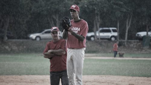 Documentary-La-Buena-Mentira-young-male-baseball-pitcher